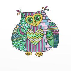"Sj's - Little Musings: Friday Freebie - Digital stamp - ""Colour me in Owl""..cute..thanks"