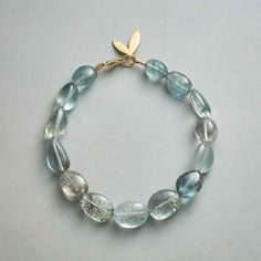 MARIANA BRACELET - Gemstone - Bracelets - Jewelry - Mariana Bracelet | Sundance Catalog Gemstone Bracelets, Love Bracelets, Handmade Bracelets, Handmade Jewelry, Unique Jewelry, Jewelry Ideas, Bangles, Wood Bracelet, Pearl Bracelet