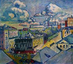 Moscow. Zubovskaya Square. Study., 1916, Wassily Kandinsky    Medium: oil on canvas