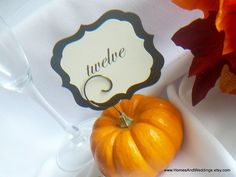 Wedding Decorations, Tiny Pick Sign Holders for Vegetables & Fruit, Halloween Decor, Fall Reception, 10. $27.50, via Etsy.