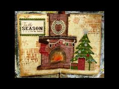"#LoveWinterArt - #Artjournal page ""Tis the season"" - #25daysofchristmas day 9 - YouTube"