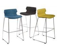 Barová stolička Techno čalúnená