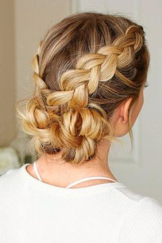Cute Braided Low Buns #braidedhairstyles #updohair ★ Are you looking for cute hairstyles that are trendy, as well? We have gathered the loveliest hairstyles that are ideal to wear on a first date. #glaminati #lifestyle #cutehairstyles