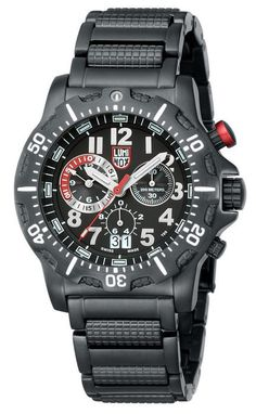 Luminox Men's Watch 8362.RP Chronograph Dive Charcoal Dial Ion Plated Stainless #Luminox #Casu