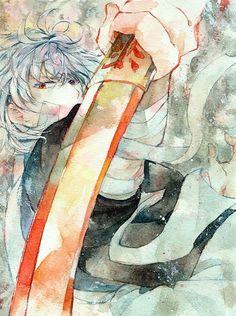 Gintama ~~ Watercolor Gintoki