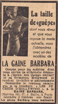 LA GAINE BARBARA et sa fermeture HOLLYWWOD, Echo du Centre, 1946 - Bfm Limoges.