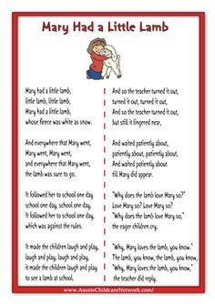 Lots of nursery rhymes- free printables