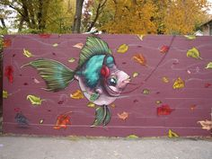 Scribe, been a fan of his graffiti work for a while, finally found his site! Fun animal art..