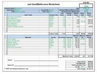 Workshop Job Card Labor Material Cost Estimator Quotation Excel Template In 2020 Job Cards Excel Templates Quotations