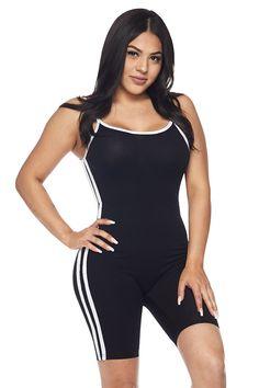 Basic Low Cut Back Striped Bodycon Romper Navy Blue Black Lace Jumpsuit, Two Piece Jumpsuit, Black Romper, Embellished Jumpsuit, Strapless Romper, Denim Romper, Wide Leg Denim, Long Sleeve Romper, Girls Rompers
