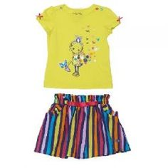 2015 Spring/Summer Fizzy Pop! Shirt and Skort Set from #deuxpardeux Start off spring with an explosion of colour! #3littlemonkeys