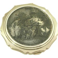 Stratton Compact titled Plaisirs Lancret Made in London