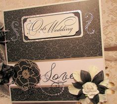 TPHH Premade Mini Scrapbook Chipboard Album Wedding Black Cream Gold SWAK | eBay