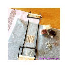 Beading on a loom even on vacay... Custom order . . . #sousouhandmadeart #etsyshop #greekdesigners #finebeadwork #bestqualitybeads #handcraftedingreece #beadingonaloom #geometricart #beachjewelry #luxuriousjewelry #uniquepieces #theartofmaking #lovebeading #makersmovement #lovehandmadejewelry #perlesandco
