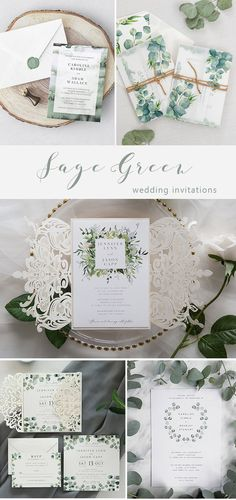 It's sweet to be green. Our collection of discount green colored wedding invitations include pale shades of sage to vibrant hues of lime. Wedding Invitation Trends, Minimalist Wedding Invitations, Green Wedding Invitations, Wedding Stationery, Olive Green Weddings, Emerald Green Weddings, Sage Green Wedding, Best Wedding Colors, Green Theme