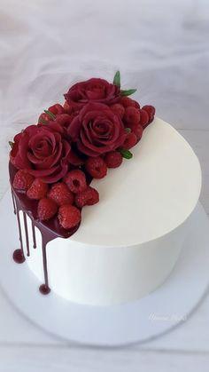 25th Birthday Cakes, Make Birthday Cake, Beautiful Birthday Cakes, Birthday Cake Decorating, Cake Decorating Supplies, Cake Decorating Techniques, Beautiful Cakes, Flower Cake Design, Fondant Cake Designs