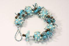 Turquoise Fringe Bracelet by berrybeads1204 on Etsy