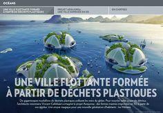 Une ville flottante formée à partir de déchets - La Presse+