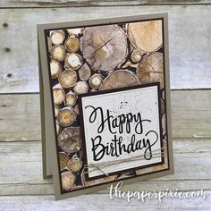 Masculine cards can be a challenge, but the Wood Textures Designer Series Paper makes them easy! #paperpixie #stampinup #makeacardsendacard #imadethis #handmadeisbetter #woodtextures