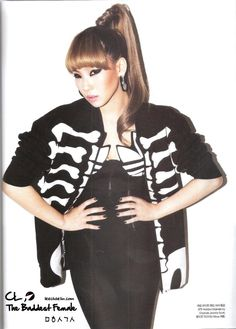 South Korean Girls, Korean Girl Groups, Cl 2ne1, Jeremy Scott, Korean Singer, Style Icons, Bomber Jacket, Fashion Looks, Punk