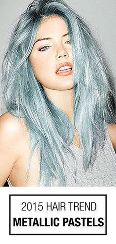 Metallic pastel hair color! From blue hair to purple hair, matte pastels are taking on a NEW lustrous life of their own in 2015! #hairtrends