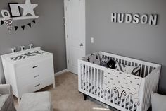 Black and White Nursery - love the modern prints and clean design!
