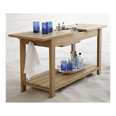 Regatta Console Table in Outdoor Lounging | Crate and Barrel >>love this!