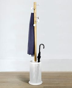 Buy the Coat Rack & Umbrella Stand - Promenade from Umbra today! A part of our Coat Stands range. Coat Storage, Diy Coat Rack, Storage Hooks, Coat Racks, Purse Display, Hanging Hats, Umbrella Holder, Umbrella Stands, Standing Coat Rack