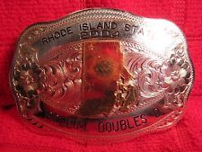 2004 Shooting Rifle RHODE ISLAND DOUBLES by Tilden Trophy Belt Buckle MAKE OFFER $65.00 or Best Offer Free shipping