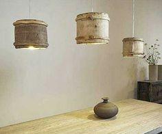 usos de tambores como lámparas