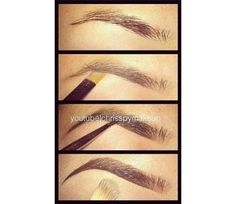 How to fill in eyebrows @Luuux