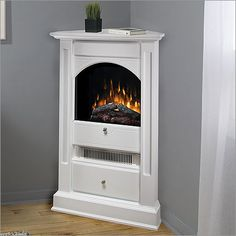 Small corner propane fireplace - living room