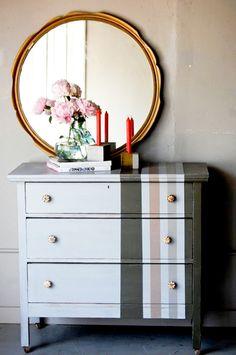 like the striped dresser Furniture Diy, Furniture, Furniture Makeover, Home Goods, Furniture Projects, Painted Furniture, Furniture Inspiration, Redo Furniture, Refinishing Furniture