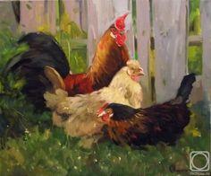 Лисицина Светлана. Петух и две курицы.