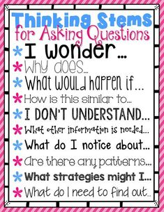 Generating questions can be tricky!  Check out this freebie to help your students get started!                                                                                                                                                                                 More