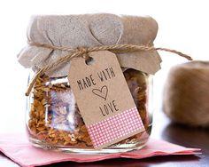 homemade granola favors!