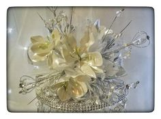 Wedding Bridal Bouquet Hand Made With Porcelain Migajon Is Hand Made Beautiful One Of A Kind For Only $35.00