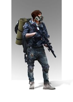 ArtStation - The Division Fan art, Rishiraj Singh Shekhawat Post Apocalypse, Apocalypse World, Apocalypse Survival, Character Concept, Character Art, Apocalypse Character, Post Apocalyptic Art, Military Drawings, Military Action Figures