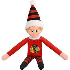 Chicago Blackhawks Team Elf by Forever Collectibles