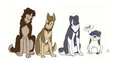 dog art deviantart   Supernatural dogs by FourDirtyPaws