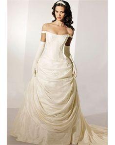 Very elegant. It reminds me of Bell's dress from Beauty and the Beast, but it's white.