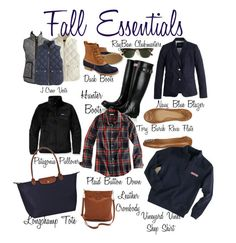"""""""Fall essentials"""" by abbywidger ❤ liked on Polyvore featuring J.Crew, L.L.Bean, Patagonia, Hunter, Longchamp, Tory Burch, Ray-Ban and Vineyard Vines"""
