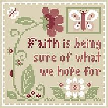Inspirational Scripture - Faith - Cross Stitch Pattern