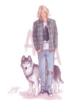 Modern Day AU - Aedion Ashryver…tell me the dog doesn't suit him.