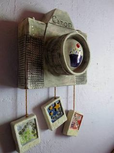 Canon Camera Wall Hanging - Ceramic Peices - POTTERY, CERAMICS, POLYMER CLAY