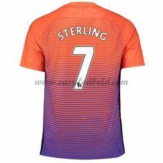 Fodboldtrøjer Premier League Manchester City 2016-17 Sterling 7 3. Trøje