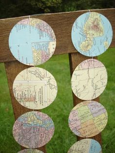 Creative Passage: United States Map Circle Garland