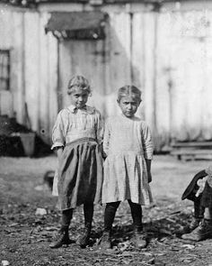 Rosie (left), regular oyster shucker. The smaller one will be working soon.  Varn and Platt Canning Co. Bluffton, South Carolina, 1913