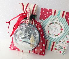 Homespun with Heart: Make It Market: Tinsel & Tags. Christmas Gift Wrapping, Christmas Tag, All Things Christmas, Christmas Crafts, Christmas Ornaments, Scrapbook Expo, Scrapbooking, Chalkboard Tags, Globe Ornament