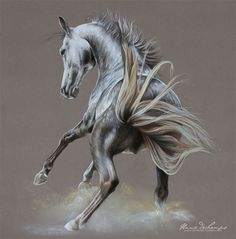 Cheval ombrageux Pastel Art, Graphite, Horses, Artwork, Gold, Animals, Horse, Graffiti, Work Of Art